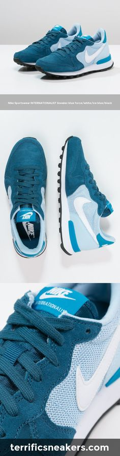 beautiful sneakers: Nike Sportswear INTERNATIONALIST Sneaker blue force/white/ice blue/black #Sneakers