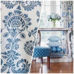 Rose Gold Pink, Teal And Gold, Blue And White Fabric, Cotton Texture, French Fabric, Fabric Roses, Embroidery Fabric, Dining Room Chairs, Sofa Pillows