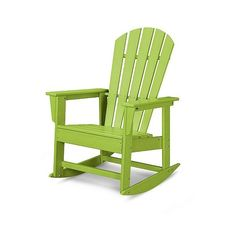 Polywood South Beach Patio Rocking Chair (1.210 BRL) ❤ liked on Polyvore featuring home, outdoors, patio furniture, outdoor chairs, green, wood patio chairs, outdoors patio furniture, wood rocking chairs, outdoor wooden rocking chairs and outdoor furniture