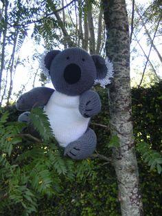 Koala uit boek 'Gebreide dieren' door Sarah Keen