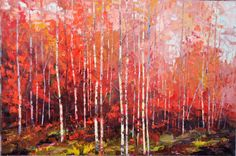 Symphony in Red, 24 x 36, Oil on Canvas by Dean Bradshaw for a Scottsdale art gallery