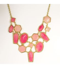 Blue Moon Jewelry Pink Bib Necklace