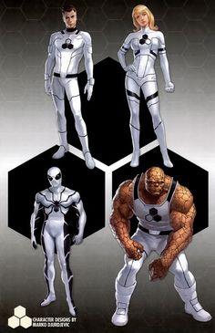 Fantastic Four - fan art Comic Book Characters, Marvel Characters, Comic Character, Comic Books Art, Mister Fantastic, Fantastic Four, Hq Marvel, Marvel Heroes, Captain Marvel