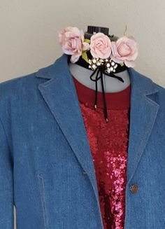 Excited to share the latest addition to my #etsy shop: DENIM JACKET BLAZER Trenchcoat Duster, Long Denim Jacket, Terry Lewis Classic Luxuries, Preppy, Dressy, Business, Western, Very Chic Couture http://etsy.me/2H21Kmv