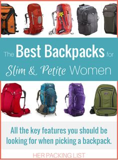The Best Backpacks for Slim and Petite Women - Her Packing List - Real Time - Diet, Exercise, Fitness, Finance You for Healthy articles ideas Best Hiking Backpacks, Cool Backpacks, Backpacking Tips, Hiking Tips, Hiking Gear Women, Women Camping, Family Camping, Camping Tips, Family Travel