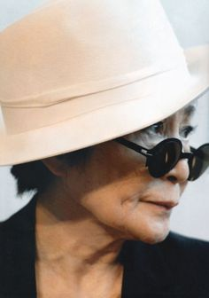 "Yoko Ono wearing MYKITA & Herchcovitch; Alexandre model ""Golda"" in Danish Magazine Skøn"