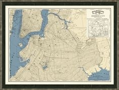 A vintage map of Brooklyn or nyc, perhaps broken up into four frames might be the Perfect answer for the living room! There are Sooo many cool options out there if you like this idea...   Map of Brooklyn, New York - Vintage Print Gallery - $179.00 - domino.com
