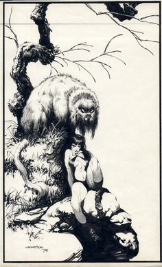 Vampirella by Bernie Wrightson. Countdown to Halloween!