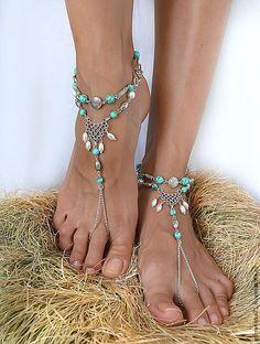 Make Your Own Custom Barefoot Beach Wedding Sandals Beach wedding