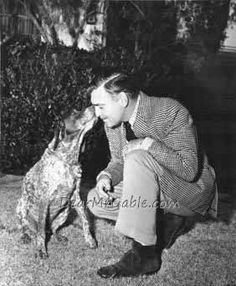 I've never met a dog yet that deserved to be beaten. Now, as for some people I've met...Clark Gable 1950