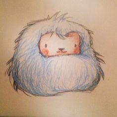 Furry bean monster