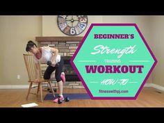 Beginner's Strength Training Workout - YouTube