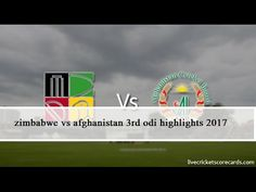 """""""Zimbabwe"""" VS Afghanistan 3rd One Day 2017 Highlights l Funland007 l HD"""