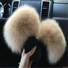 Enjoy the much cheaper items sold by ShopperStuff. > Women's Fur Slippers Fluffy Sandals Fox Hair for winter. On sale now + FREE Shipping Wordwide!  #shopper_stuff_online