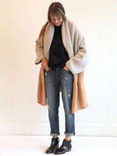 Lauren Manoogian Capote Coat - Putty/Tan