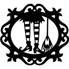 Silhouette Design Store - View Design #50120: halloween witch boots frame
