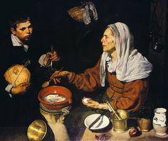 Старуха, жарящая яичницу (Кухарка)
