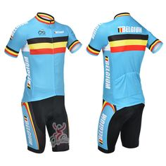 New 2013 Belgium Cycling Clothing Set Summer Cycling Jersey Cycling Bib Shorts Cycling Team Kit Size:XS-4XL All In Stock