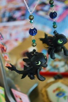 Toothless necklace / Ohnezahn How to train your by CocoLocoJewels