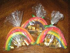 Gold At The End Of The Rainbow Treats. PRECIOUS St. Patrick's Day Idea.