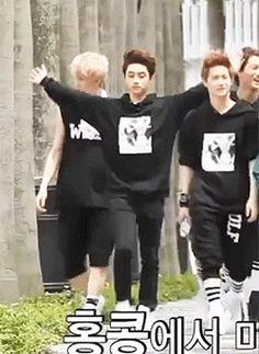 "GIF EXO ""Exo's diva, Do Kyungsoo~~~~ lol"""