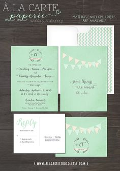 Bilingual Invitation Two Countries One Love One by alacartestudio