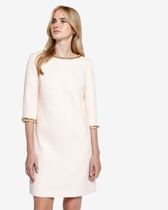 Chain embellished tunic dress - Baby Pink   Dresses   Ted Baker