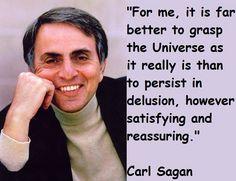 Carl Sagan. Side note - I feel like he would have hated comic sans serif
