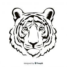 Tiger Face Drawing, Lion Drawing, Tiger Sketch, Face Sketch, Animal Sketches, Animal Drawings, Tiger Outline, Tiger Stencil, 3d Cuts