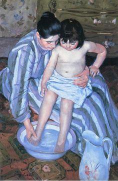 Mary Cassatt's 'Mother washing her Child's feet'
