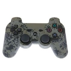 Camouflage Gray Bluetooth Wireless GamePad Controller for Sony Playstation 3 PS3