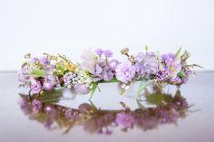Purple Flower Crown - Flowergirl hairpiece - Rose Wedding - Newborn Photo Prop - Wedding Crown - Floral Hairpiece
