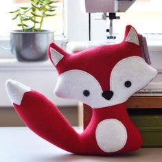 Cheeky Red Fox, put a green scarf on him and he's Christmassy