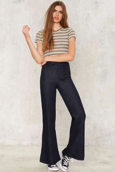 Flare With Me High-Waisted Jeans