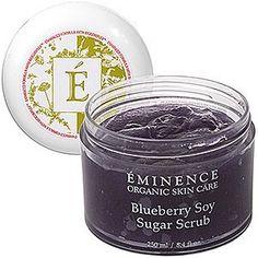 Eminence Blueberry Soy Sugar Scrub, 8.4 Ounce by Eminence Organic Skin Care, http://www.amazon.com/dp/B002KA4P4U/ref=cm_sw_r_pi_dp_k.udsb1573HP0