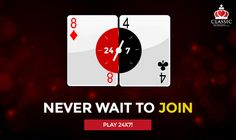 Never wait to join, play Rummy 24x7! #rummy #onlinerummy #Indianrummy #classicrummy #rummy24x7 #cardgames