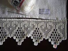 filet crochet heart edging