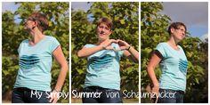 My Simply Summer Schaumzucker Stoffonkel porbenähen Biojersey T-Shirt