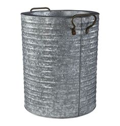 galvanized steel planter   Galvanized Steel Planter with Handles Sold ...   Outdoor Spaces