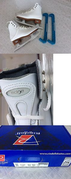 Youth 26344: New White Riedell 29 Edge Ice Skate, Size 3.5, With Ice Skate Guards -> BUY IT NOW ONLY: $250 on eBay!