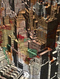 Built Environment, Freelance Illustrator, Detailed Image, City Photo, How To Draw Hands, Architecture, Illustration, Arquitetura, Illustrations