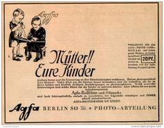 Original-Werbung/ Anzeige 1925 - AGFA PHOTOGRAPHIE / KINDER  - ca. 140 x 110 mm