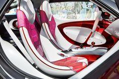 Smart will unveil its forstars concept with its bonnet-mounted video projector at the Paris Motor Show. Rolls Royce, Volvo, Ferrari, Lamborghini, Porsche, Car Interior Design, Design Cars, Interior Concept, Drive In Movie Theater