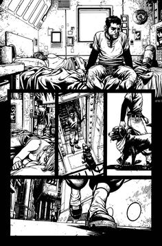 This is by far one of my favorite pages I've ever drawn. One little factoid about my neurosis - the. Wild Blue Yonder Issue 4 Page 10 Comic Book Layout, Comic Book Pages, Comic Book Artists, Comic Artist, Comic Books Art, Comic Manga, Manga Comics, Storyboard, Character Art