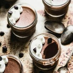 Youre not gonna believe how easy this Paleo Chocolate Pudding recipe is...just 4 ingredients for this lip-smacking dairy-free treat. | StupidEasyPaleo.com