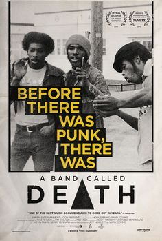 Looking forward to the new doc, A BAND CALLED DEATH. #movies #poster