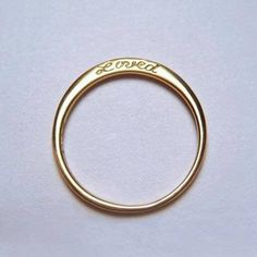 Love everything about this ring; gold, words, simplicity -> forever and ever babe