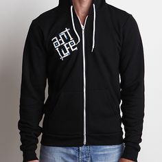 Skullmate Black Hoodie on Art.Life is a super soft zip-up fleece sweatshirt with small distressed logo front print, large distressed back print, stitching detail on shoulder, and organic cotton neck label. MADE IN USA. #usa #hoodie #savetheplanet #nature #artlife #zipup #ecofriendly #blue #mensfashion #womensfashion #mensstyle #womensstyle #beach #style #graphic #surf #retro #lifestyle #artlife #southbay #cotton #graphictee #ecofriendly #beachstyle #vintage #outerwear