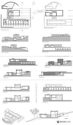 Koshino House, Ashiya, Hyogo Japan (1979-81)   Tatao Ando   Archweb 2D Tadao Ando, Sustainable Architecture, Architecture Plan, Ancient Architecture, Landscape Architecture, Koshino House, Office Floor Plan, Romanesque Architecture, Parking Design