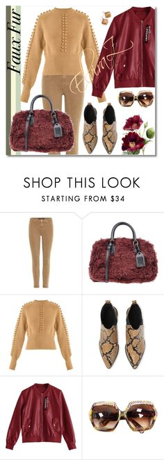 """""""Faux Fur"""" by elza76 ❤ liked on Polyvore featuring J Brand, Rochas, Chloé, Whistles and Kendra Scott"""